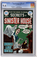 Bronze Age (1970-1979):Horror, Secrets of Sinister House #17 (DC, 1974) CGC NM 9.4 Off-white towhite pages....