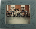 Autographs:Photos, 1990 Hall of Fame Induction Ceremonies Multi-Signed Photograph. Official group portrait snapped at the fifty-first annivers...