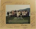 Autographs:Photos, 1989 Hall of Fame Induction Ceremonies Multi-Signed Photograph.Official group portrait snapped at the fiftieth anniversary...