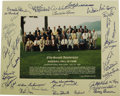 Autographs:Photos, 1991 Hall of Fame Induction Ceremonies Multi-Signed Photograph. Official group portrait snapped at the fifty-second anniver...