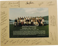 Autographs:Photos, 1992 Hall of Fame Induction Ceremonies Multi-Signed Photograph. Official group portrait snapped at the fifty-third annivers...