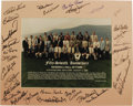 Autographs:Photos, 1996 Hall of Fame Induction Ceremonies Multi-Signed Photograph.Official group portrait snapped at the fifty-seventh annive...