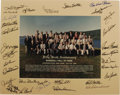 Autographs:Photos, 1995 Hall of Fame Induction Ceremonies Multi-Signed Photograph. Official group portrait snapped at the fifty-sixth annivers...