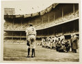 Baseball Collectibles:Photos, Babe Ruth Farewell Photograph by Nat Fein. Perhaps the most famousbaseball photograph of all time, this Pulitzer Prize-win...