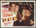 """Movie Posters:War, O.S.S. (Paramount, 1946). Half Sheet (22"""" X 28"""") Style B. War.Starring Alan Ladd, Geraldine Fitzgerald, Patric Knowles and ..."""
