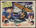 "Movie Posters:War, Atlantic Convoy (Columbia, 1942). Half Sheet (22"" X 28""). War.Starring Bruce Bennett, Virginia Field, John Beal and Cliffor..."