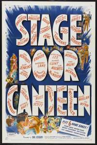 "Stage Door Canteen (United Artists, 1943). One Sheet (27"" X 41""). Musical. Starring an All-Star Cast including..."