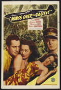 "Movie Posters:War, Wings Over the Pacific (Monogram, 1943). One Sheet (27"" X 41"").War. Starring Inez Cooper, Edward Norris, Montagu Love and R..."
