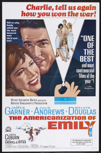 "The Americanization of Emily (MGM, 1964). One Sheet (27"" X 41""). Drama/Comedy. Starring James Garner, Julie An..."