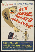 "Movie Posters:Comedy, See Here, Private Hargrove (MGM, 1944). One Sheet (27"" X 41"").Military comedy. Starring Robert Walker, Donna Reed, Keenan W..."