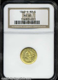 Liberty Quarter Eagles: , 1842-D $2 1/2 MS60 NGC. Winter 3-E, the only known dies. ...