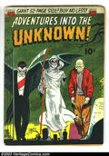 Golden Age (1938-1955):Horror, Adventures Into the Unknown #27 (ACG, 1952) Condition: GD/VG. AlWilliamson and Roy Krenkel art. Ogden Whitney cover. Overst...