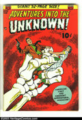 Golden Age (1938-1955):Horror, Adventures Into the Unknown #28 (ACG, 1952) Condition: VF/NM. CoolOgden Whitney cover, in rare high-grade. A somewhat overl...