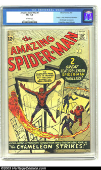 Amazing Spider-Man #1 (Marvel, 1963) CGC FN+ 6.5 Off-white pages. Unrestored copy of this historic first issue. Art by J...