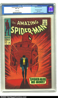 Amazing Spider-Man #50 (Marvel, 1967) CGC VF- 7.5 Off-white pages. First appearance of the Kingpin. John Romita, Sr. cov...