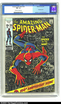 Amazing Spider-Man #100 (Marvel, 1971) CGC NM- 9.2 Off-white to white pages. Anniversary issue, Green Goblin cameo. John...
