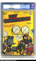 Golden Age (1938-1955):War, Boy Commandos #21 (DC, 1947) CGC VF- 7.5 Off-white to white pages.Joe Simon and Jack Kirby art. There is currently only one...
