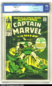 Captain Marvel #3 (Marvel, 1968) CGC NM+ 9.6 White pages. Gene Colan cover and art. Super Skrull story. Near-perfect cop...