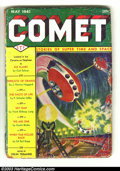 Pulps:Science Fiction, Comet (Pulp) May 1941 (H-K Publications, 1941) Condition: GD.Behind this great Frank Paul flying saucer cover are stories b...