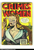 Golden Age (1938-1955):Crime, Crimes by Women #4 (Fox, 1948) Condition: VG+. Female trouble, of the criminal kind. A nice comic from a great series. Overs...