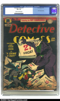 Batman #4 (DC, 1940) CGC Apparent VF- 7.5 Slight (P) Cream to off-white pages. This issue has the third appearance of th...