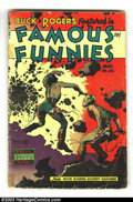 Golden Age (1938-1955):Science Fiction, Famous Funnies #216 (Eastern Color, 1955) Condition: FR/GD. This isthe final of an eight-issue consecutive run of covers dr...