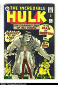 Silver Age (1956-1969):Superhero, The Incredible Hulk #1 (Marvel, 1962) Condition: Apparent VG+. JackKirby cover and art. Origin and first appearance of the ...