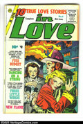 Golden Age (1938-1955):Romance, In Love #5-7 Group (Charlton, 1955) Condition: Average VG+. Withissue #7 the title changed to I Love You. Issue #5 has ... (Total:3 Comic Books Item)