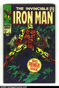 Iron Man #1 (Marvel, 1968) Condition: VG+. Story continued from Iron Man and Sub-Mariner #1. Origin retold. Gene Colan a...