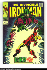 Iron Man #5 (Marvel, 1968) Condition: VF-. George Tuska and Johnny Craig art. Overstreet 2003 VF 8.0 value = $50