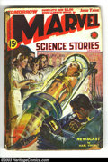 Pulps:Science Fiction, Marvel Science Stories (Pulp) Apr-May 1939 (Red Circle, 1939)Condition: GD. Very collectible Norm Saunders cover of a nude ...