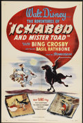 "Movie Posters:Animated, The Adventures of Ichabod and Mr. Toad (RKO, 1949). One Sheet (27"" X 41""). Animated...."