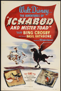 "The Adventures of Ichabod and Mr. Toad (RKO, 1949). One Sheet (27"" X 41""). Animated"