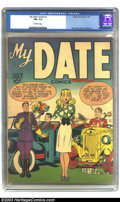 Golden Age (1938-1955):Romance, My Date Comics #1 (Hillman Publications, 1947) CGC FN+ 6.5Off-white pages. Simon and Kirby tackle teen-age romance withthi...