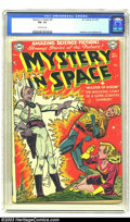 Golden Age (1938-1955):Science Fiction, Mystery in Space #4 (DC, 1951) CGC FN- 5.5 Off-white pages. CarmineInfantino and Murphy Anderson art. Overstreet 2003 FN 6....