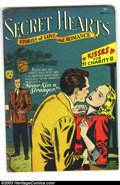 "Golden Age (1938-1955):Romance, Secret Hearts #7 (DC, 1952) Condition: VG/FN. Melodramatic pre-Coderomance from DC comics. Overstreet notes this issue as ""..."