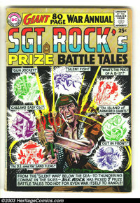 Sgt. Rock's Prize Battle Tales Annual #1 (DC, 1964) Condition: GD. New Joe Kubert cover, plus 80 pages of Kubert and Rus...