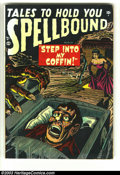 Golden Age (1938-1955):Horror, Spellbound #1 (Atlas, 1952) Condition: GD+. Sol Brodsky cover withJerry Robinson art. Has water stains on the back but look...