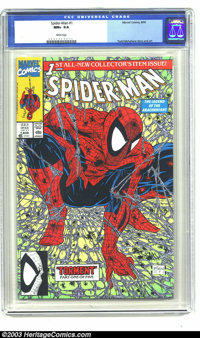 Spider-Man #1 (Marvel, 1990) CGC NM+ 9.6 White pages. Todd McFarlane cover and art. Overstreet 2003 NM 9.4 value = $6...