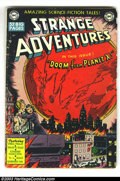 Golden Age (1938-1955):Science Fiction, Strange Adventures #2 (DC, 1950) Condition: GD+. Gardner Foxscripts with Virgil Finlay, Jim Mooney and Jack Kirby art. Over...