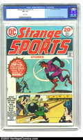 Bronze Age (1970-1979):Miscellaneous, Strange Sports Stories #1 (DC, 1973) CGC VF+ 8.5 White pages. NickCardy cover. Curt Swan art. Overstreet 2003 VF 8.0 value ...