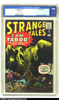 Silver Age (1956-1969):Horror, Strange Tales #75 (Marvel, 1960) CGC VF- 7.5 Off-white to whitepages. Absolutely crazy swamp-creature cover by Jack Kirby; ...