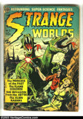 Golden Age (1938-1955):Science Fiction, Strange Worlds #3 (Avon, 1951) Condition: FR. This comic islegendary for its amazing assemblage of talent. Art by Frank Fra...