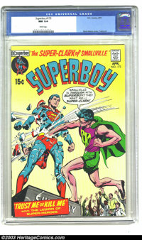 Superboy #173 (DC, 1971) CGC NM 9.4 White pages. Neal Adams cover art, and George Tuska interior art. Highest-graded cop...