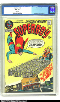 Superboy #176 (DC, 1971) CGC NM- 9.2 White pages. Neal Adams cover art, and Golden Age artist George Tuska handles the i...