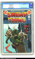 Bronze Age (1970-1979):Horror, Swamp Thing #2 (DC, 1973) CGC VF+ 8.5 Cream to off-white pages.Berni Wrightson cover and art. First appearance of the Patch...