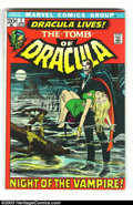 Bronze Age (1970-1979):Horror, Tomb of Dracula #1 (Marvel, 1972) Condition: FN/VF. Firstappearance of Marvel's Dracula. Cover is by Neal Adams, withinter...