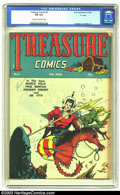 "Golden Age (1938-1955):Adventure, Treasure Comics #5 ""D"" pedigree (Prize, 1946) CGC FN 6.0 Cream to off-white pages. Jack Kirby, Bernie Krigstein, and H.C. Ki..."