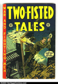 """Two-Fisted Tales #33 (EC, 1953) Condition: VG/FN. Jack Davis, Joe Kubert and Wally Wood art. Great """"Atom Bomb""""..."""