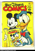 Golden Age (1938-1955):Cartoon Character, Walt Disney's Comics and Stories #33 (Dell, 1943) Condition: GD+.Donald Duck, Mickey Mouse and friends. Carl Barks art. Inf...